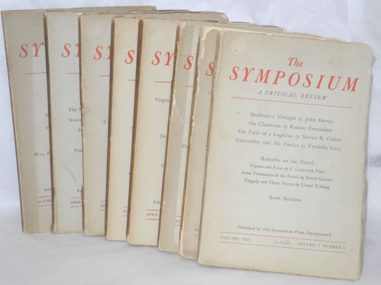 The Symposium; a critical review [eight issues]. James Burnham, Philip Wheelwright.