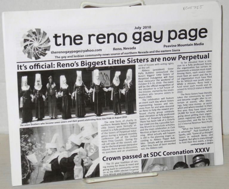 The Reno gay page: the gay and lesbian community news source of northern Nevada and the eastern Sierra; July 2010