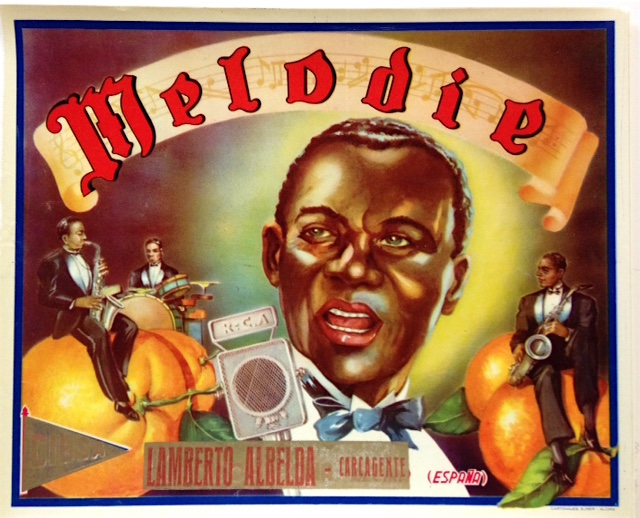 Melodie [orange crate label featuring an African American jazz band]