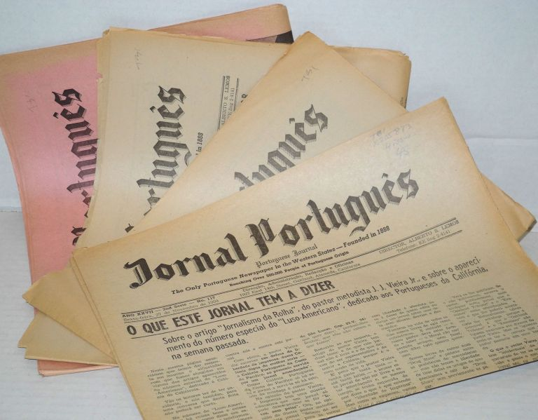 Jornal Português/Portuguese Journal: the only Portuguese newspaper in the Western States ano 27, numbers 117, 119, 120 & 122 Nov-Dec 1959. Alberto S. Lemos, director.