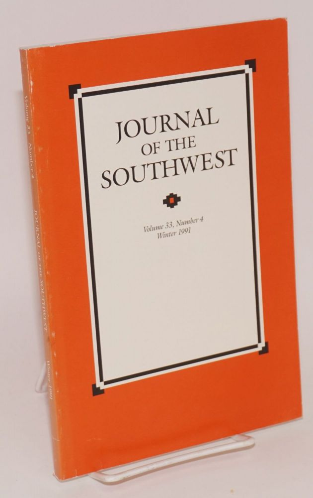 Journal of the Southwest, volume 33, number 4, Winter 1991. Joseph Carleton Wilder.