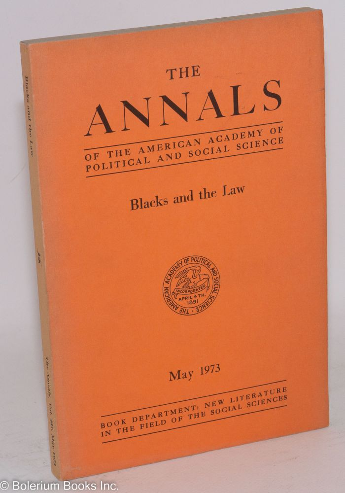 Blacks and the law. Jack Greenberg, ed.