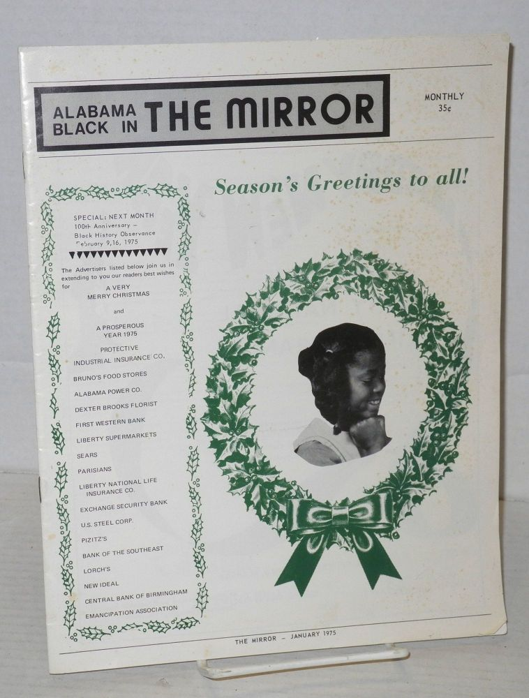Alabama Blacks in the Mirror: January 1975 [cover title Alabama Black in the Mirror]