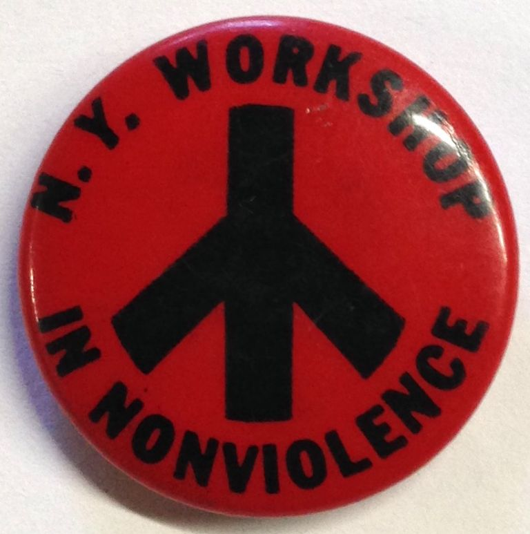 NY Workshop in Nonviolence [pinback button]