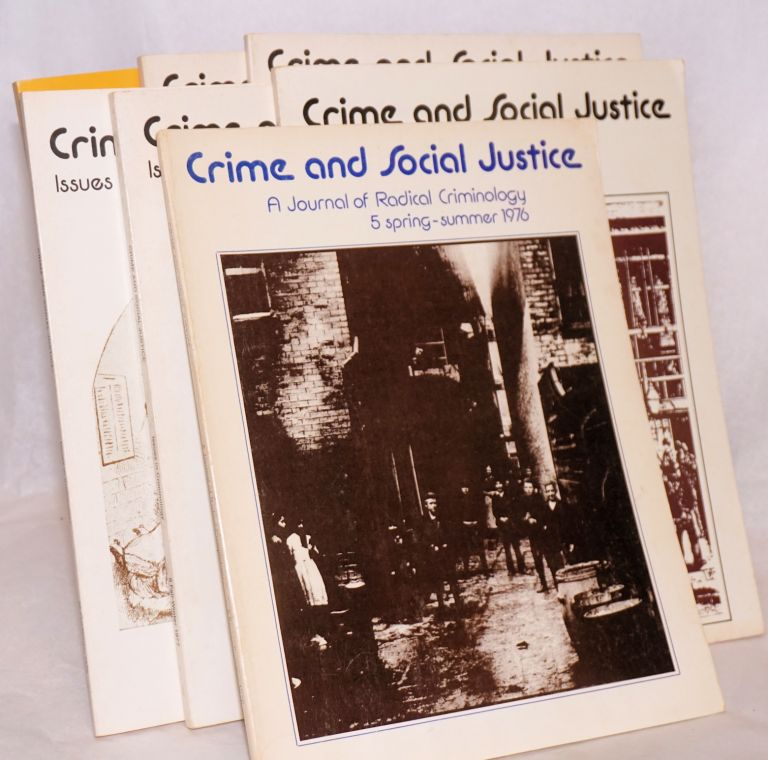 Crime and social justice [7 issues]