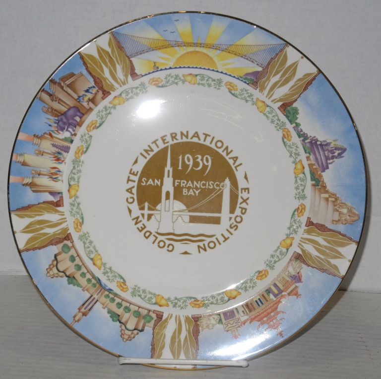 Golden Gate International Exposition. An Official Souvenir, license [?]. San Francisco 1939. souvenir dinnerplate.