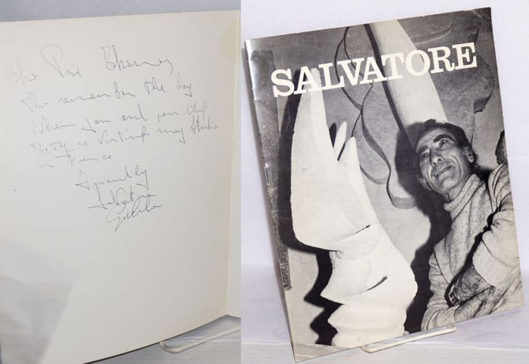 Salvatore [catalog of an exhibition]. Salvatore Gallo, , Piri Thomas association Denys Chevalier.