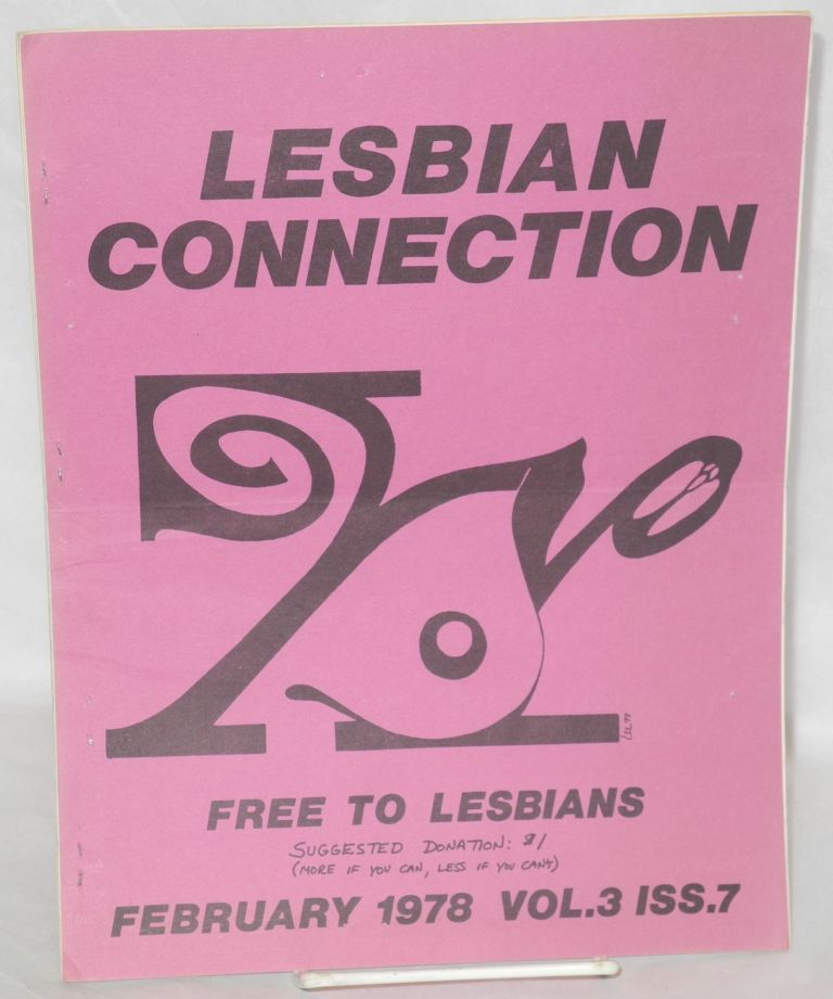 Lesbian connection: vol. 3, # 7, February 1978
