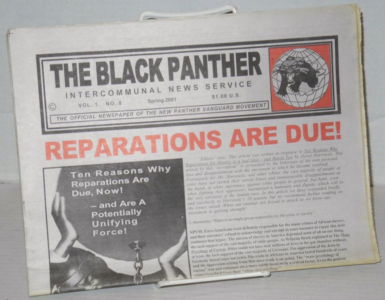 The Black Panther Intercommunal News Service, Vol. 1 no. 8 (Spring 2001). New Panther Vanguard Movement.