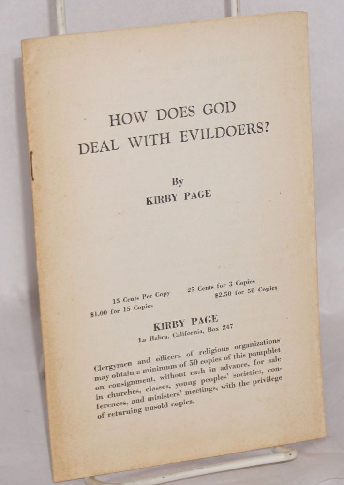 How does God deal with evildoers? Kirby Page.
