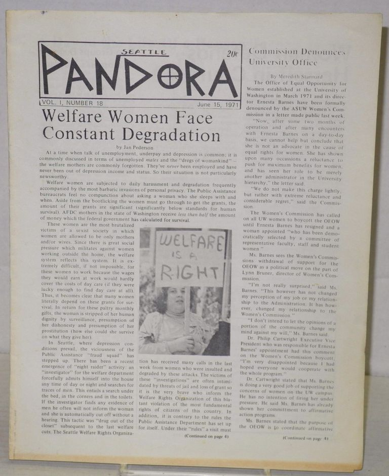 Seattle Pandora [newsletter] vol. 1, #18, June 15, 1971
