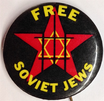 Free Soviet Jews [pinback button]