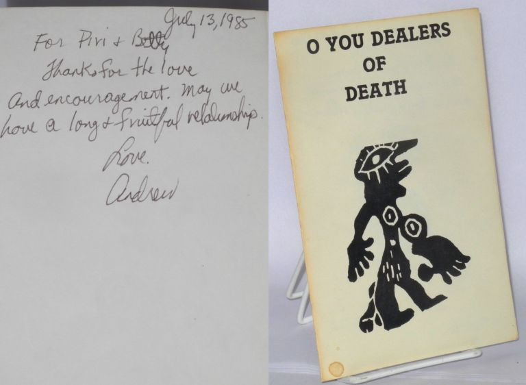 O you dealers of death. Andrew Phillips Hayes, Piri Thomas association.
