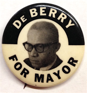 DeBerry for Mayor [pinback button]. Clifton DeBerry.