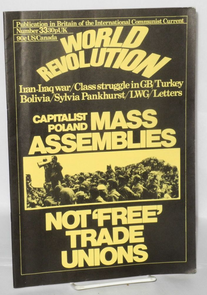 World Revolution, No. 33, Oct.-Nov. 1980 Publication in Britain of the International Communist Current