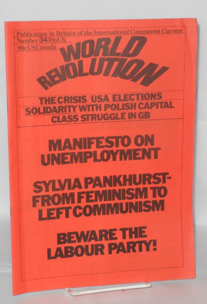 World Revolution, No. 34, Oct.-Nov. 1980 Publication in Britain of the International Communist Current