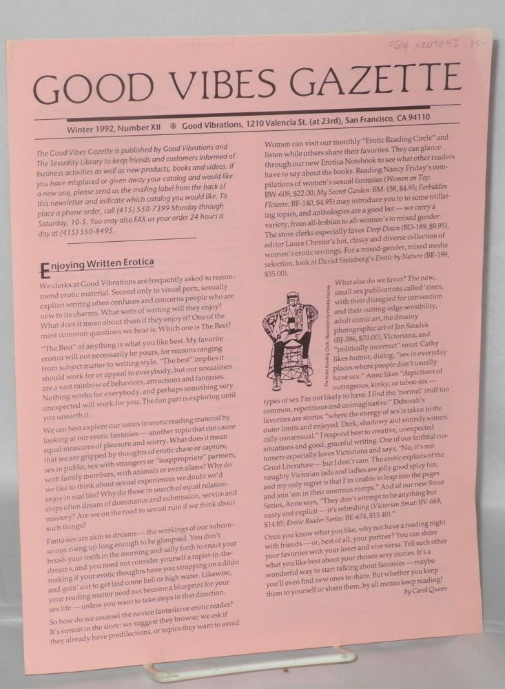 Good Vibes Gazette; Number XII, Winter, 1992
