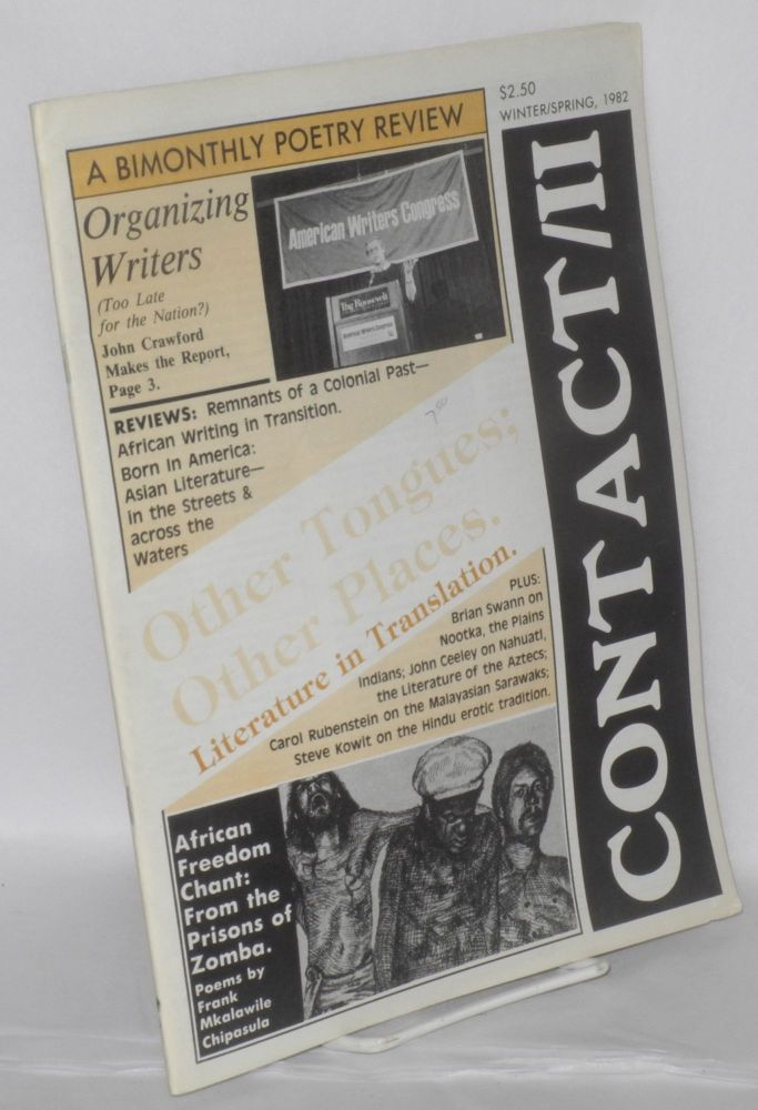 Contact/II: a bi-monthly poetry review; vol. 5, #24/25. Winter/Spring 1982. Wanda Coleman, Wendy Rose, Simon Ortiz, Maurice Kenny, J G. Gosciak.