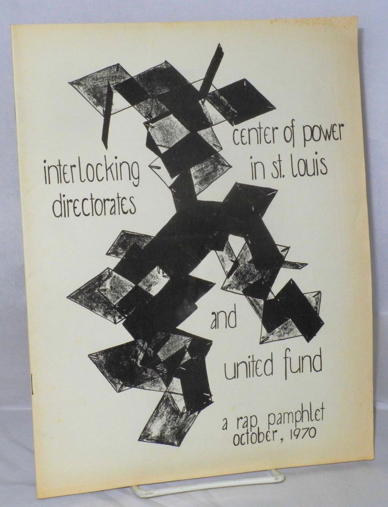 The center of power in St. Louis, interlocking directorates, and the United Fund. Bob Sheak.
