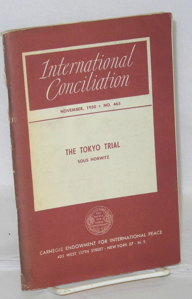 The Tokyo trial. Solis Horwitz.