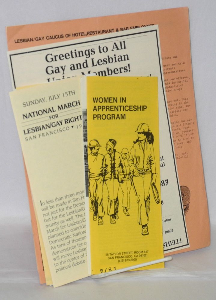 Lesbian and Gay Labor handbills and brochures [Six brochures and four handbills]