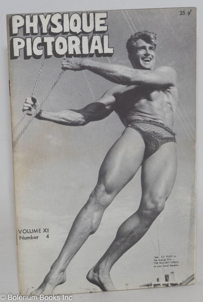 Physique pictorial: vol. 11, #4, May 1962. Ed Fury Roy Hunt.