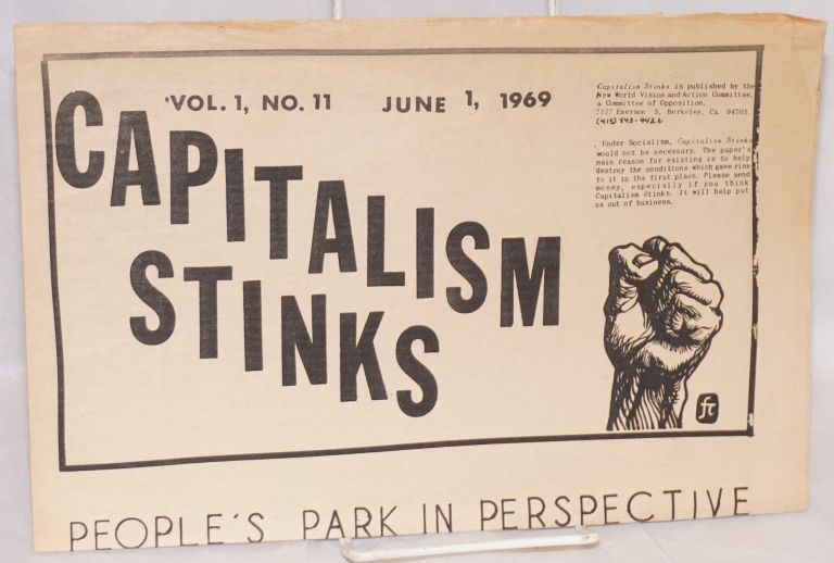 Capitalism stinks. Vol. 1 no. 11 (June 1, 1969)