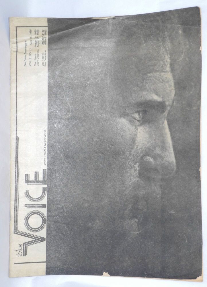 The voice: more than a newspaper; vol. 2, #17, August 15, 1980. Paul D. Hardman, , E. Lee Clifton, Donald McLean, Quentin Kopp.