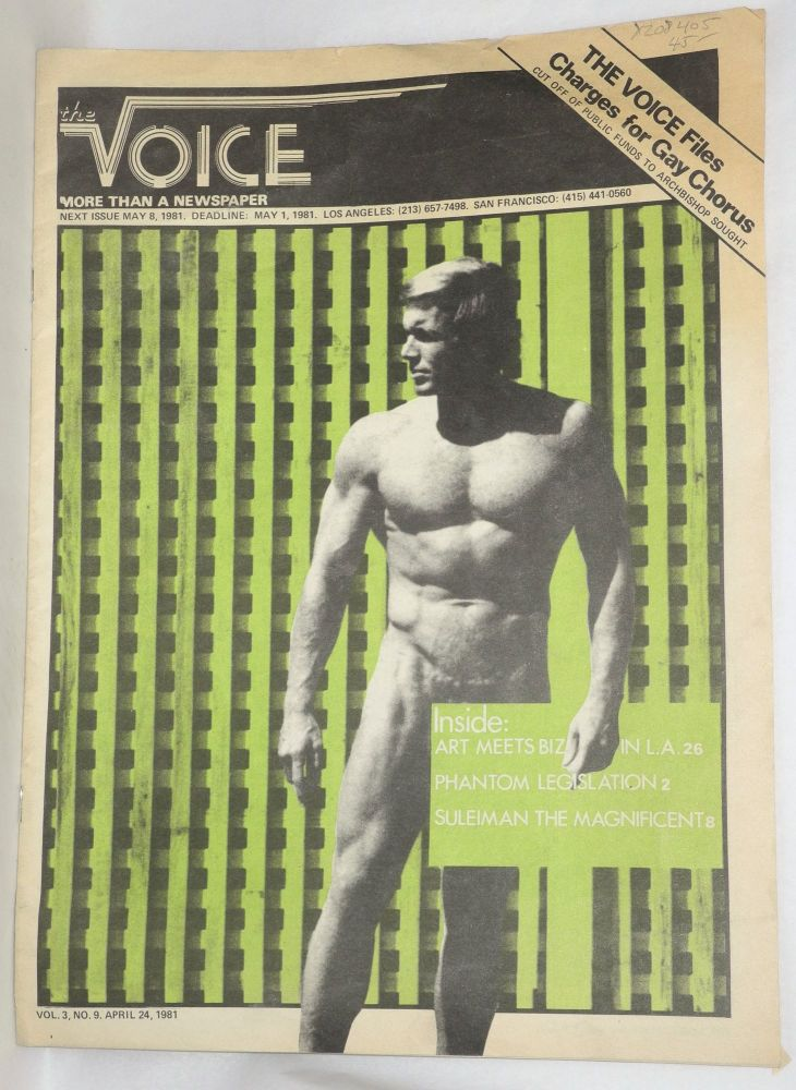 The Voice: more than a newspaper; vol. 3, #9, April 24, 1981. Paul D. Hardman, James Baily Milton Marks, Donald McLean, Quentin Kopp.