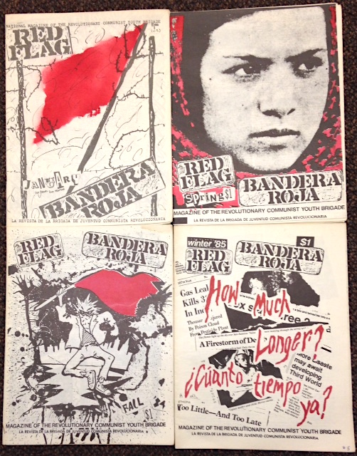 Red Flag / Bandera Roja [four issues]. Revolutionary Communist Youth Brigade.