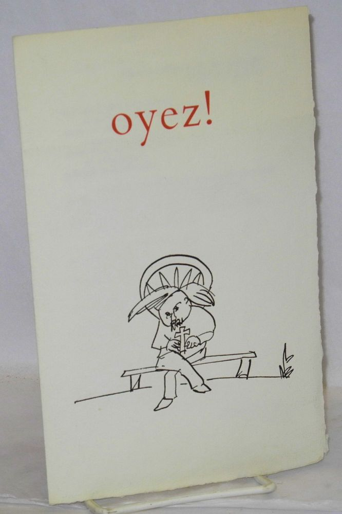 Oyez! David Meltzer.