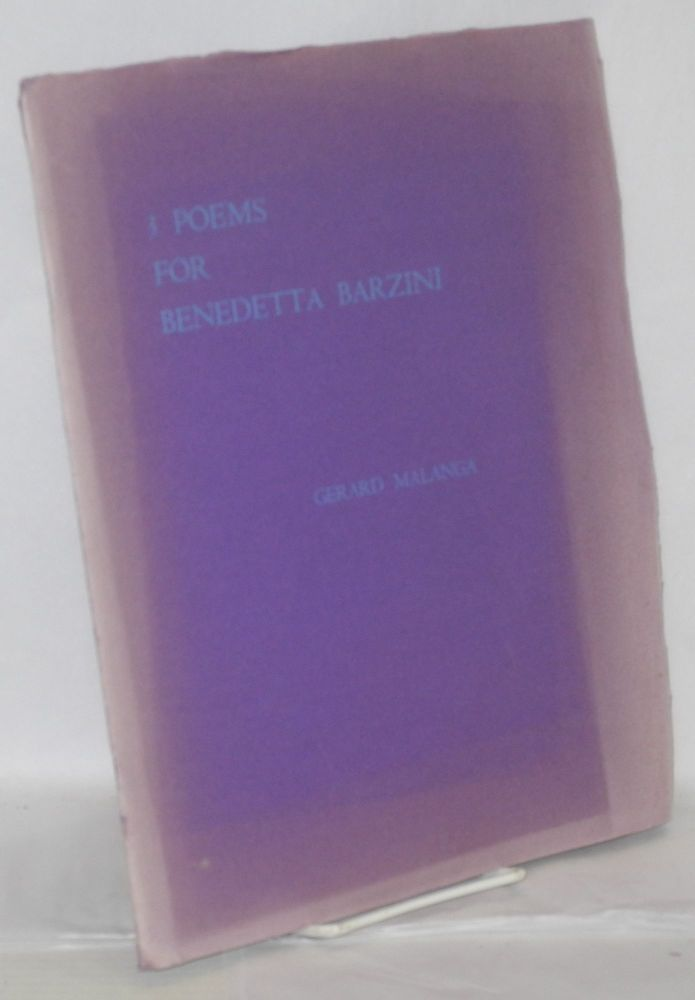 3 poems for Benedetta Barzini. Gerard Malanga, , Steven Shore.