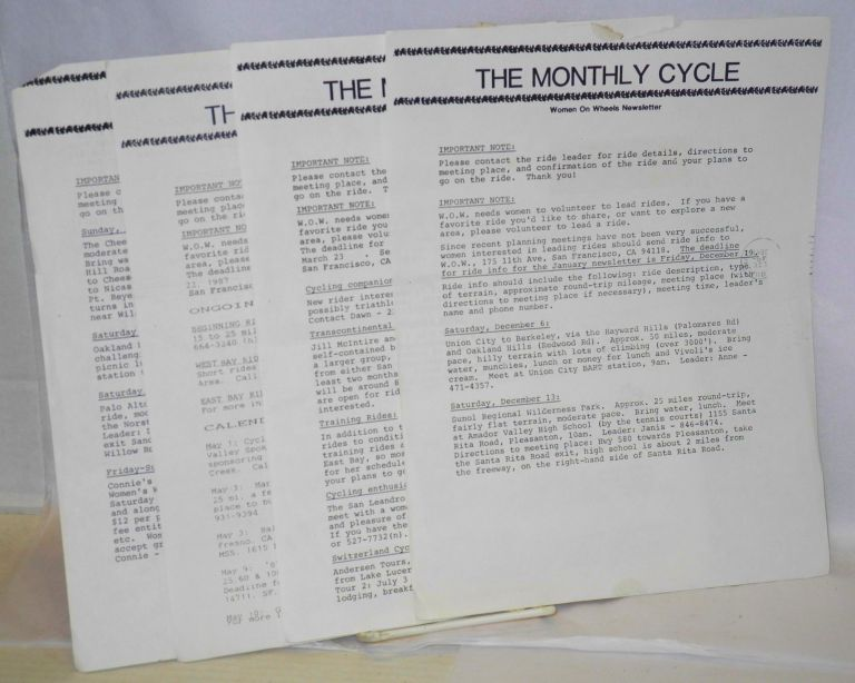 The Monthly Cycle: Women on Wheels newsletter