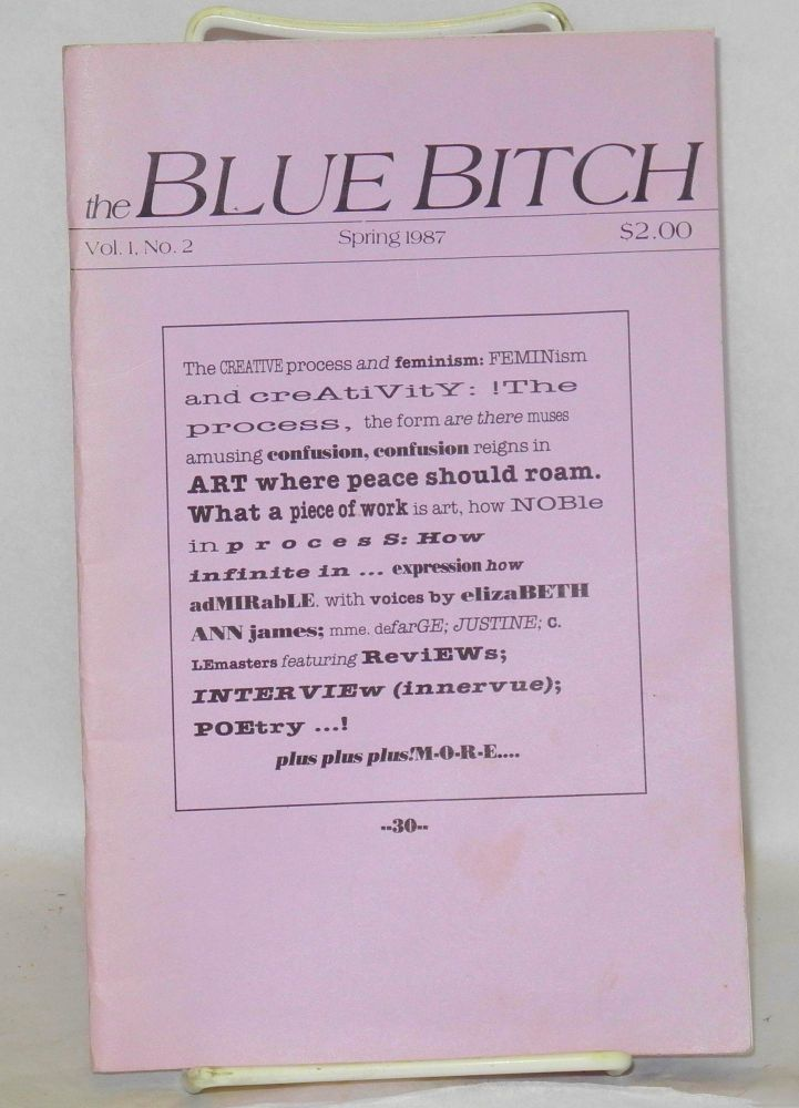 The blue bitch: vol. 1, #2, Spring 1987