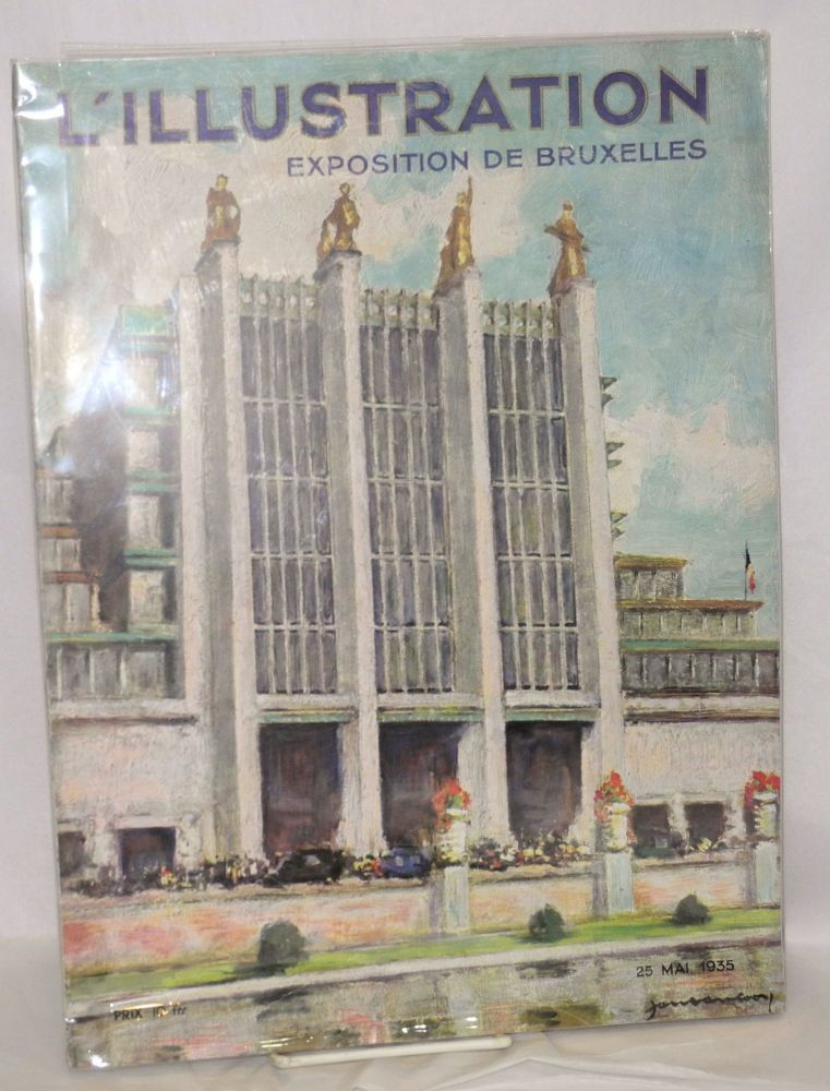 L'Illustration: Exposition de Bruxelles. No. 4812 - 93e annee; 25 Mai 1935. expositions, world's fairs.