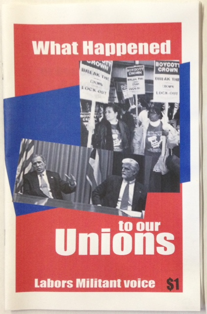 What happened to our unions? John Reimann.