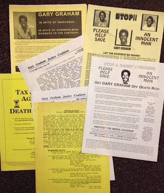 [Group of leaflets related to efforts to stop the execution of Gary Graham]. Gary Graham.