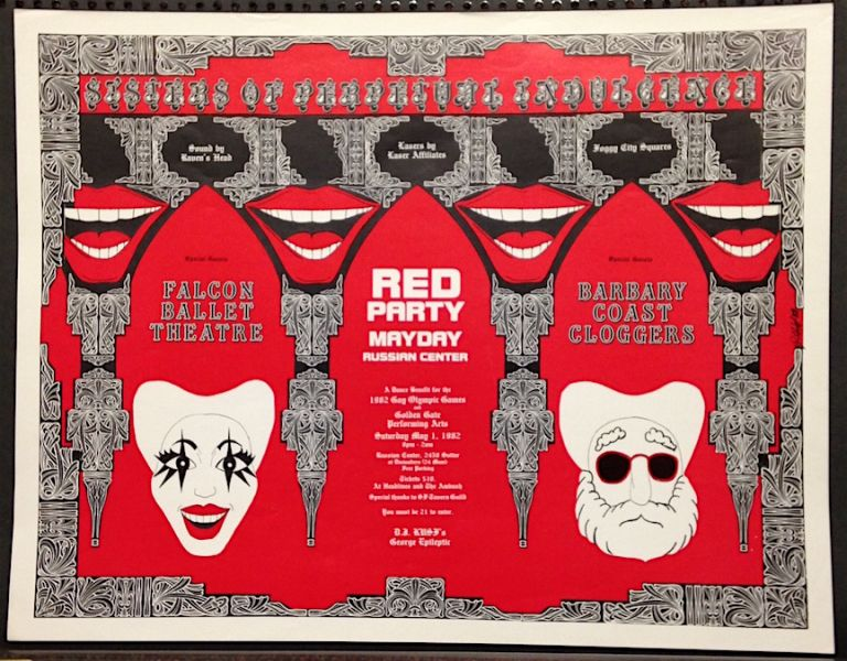 Red Party / Mayday / Russian Center / A dance benefit for the 1982 Gay Olympic Games and Golden Gate Performing Arts [poster]. The Sisters of Perpetual Indulgence.