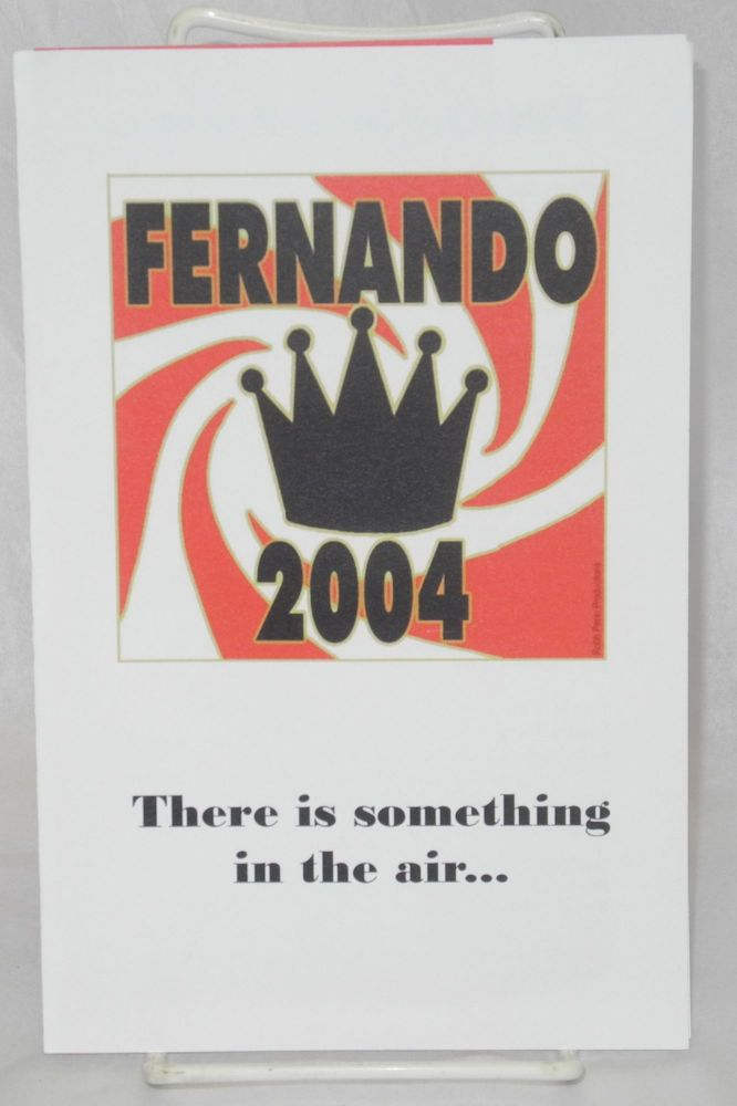 Fernando 2004: there is something in the air . . Fernando.
