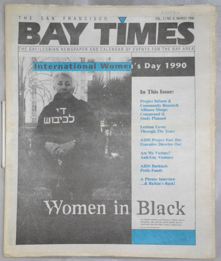 The San Francisco Bay Times: the gay/lesbian newspaper and calendar of  events for the Bay Area