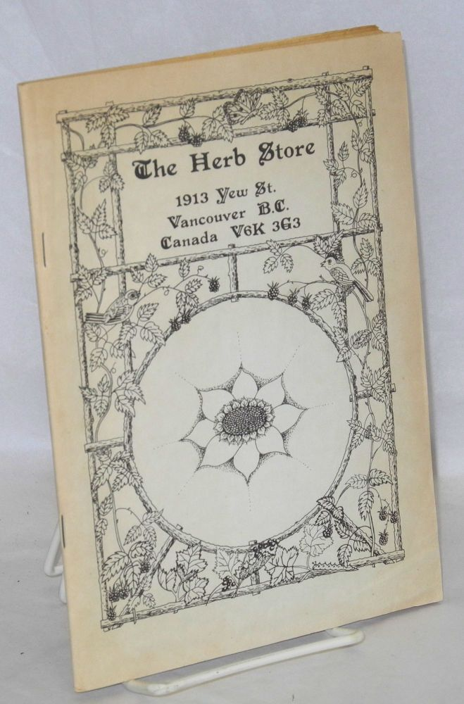 The Herb Store [trade catalog]