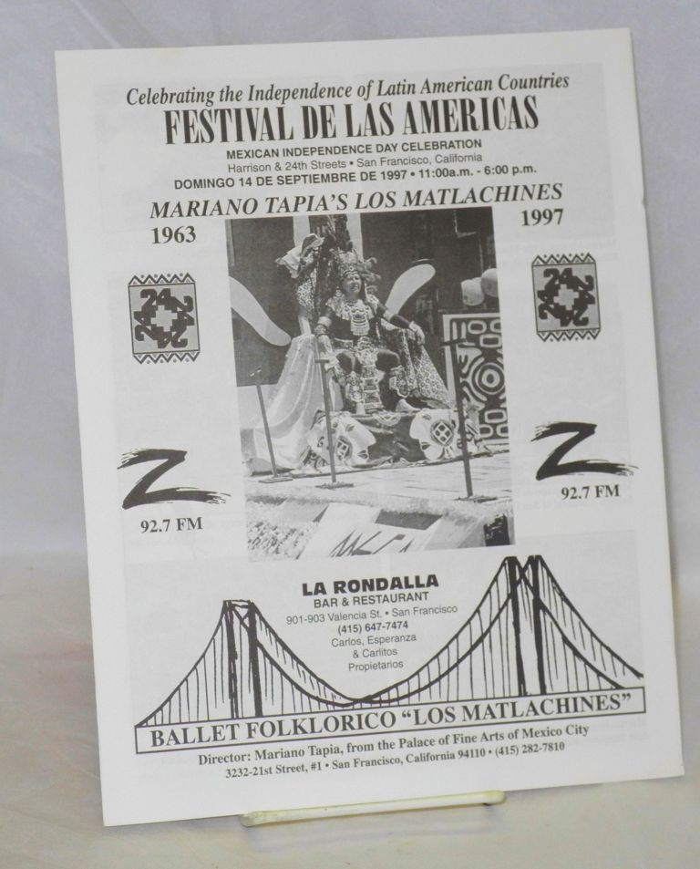 Celebrating the Independence of Latin American countres - Festival de las Americas [program
