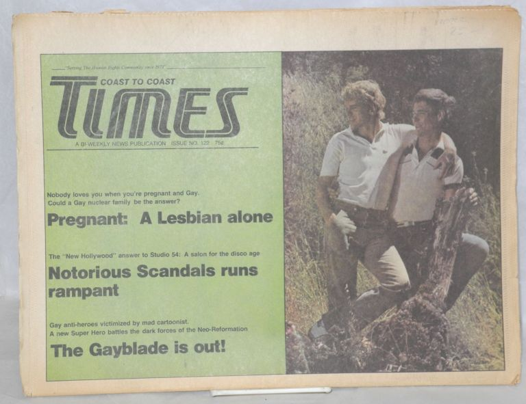 Coast to Coast Times: bi-weekly news magazine; issue #122; September 12, 1978. Ace Lundon, Harvey Milk James Kepner Jr.