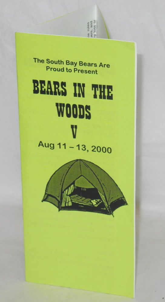 South Bay Bears are proud to present Bears in the Woods V: Aug 11 - 13, 2000 [brochure]