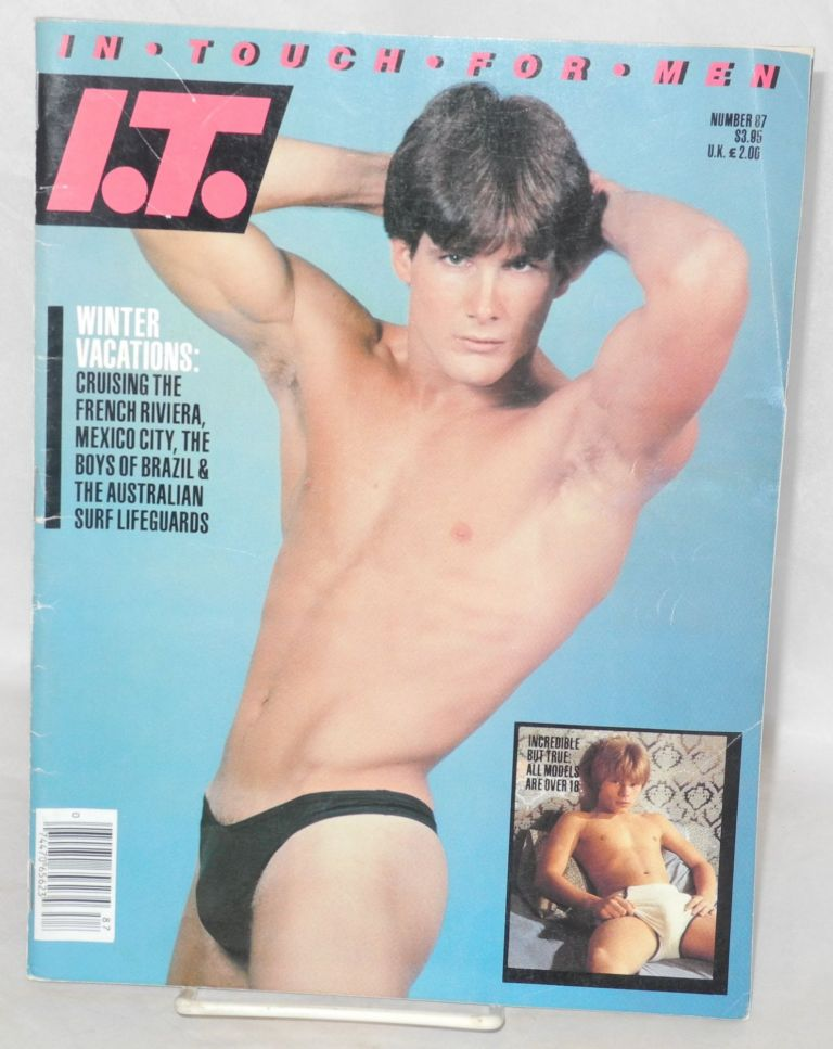 I. T. In Touch: for men; #87, January 1984. Jim Yousling, Billy Wolfe John Bryant, Tom of Finland.
