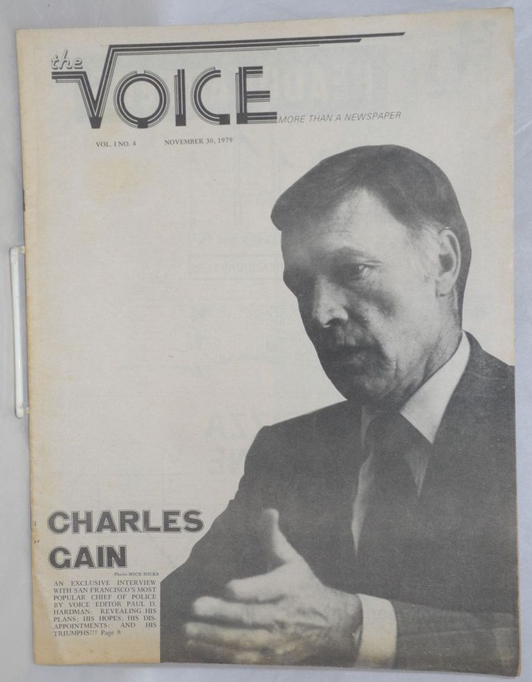 The Voice: more than a newspaper; vol. 1, #4, November 30, 1979; Charles Cain Interview. Paul D. Hardman, E. Lee Clifton Daniel Curzon, Charles Cain.
