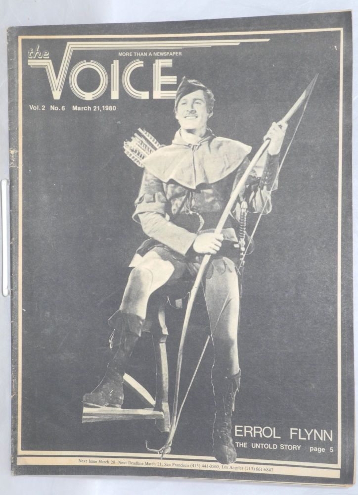 The Voice: more than a newspaper; vol. 2, #6, March 21, 1980. Paul D. Hardman, Senator Milton Marks Quentin Kopp, E. Lee Clifton.