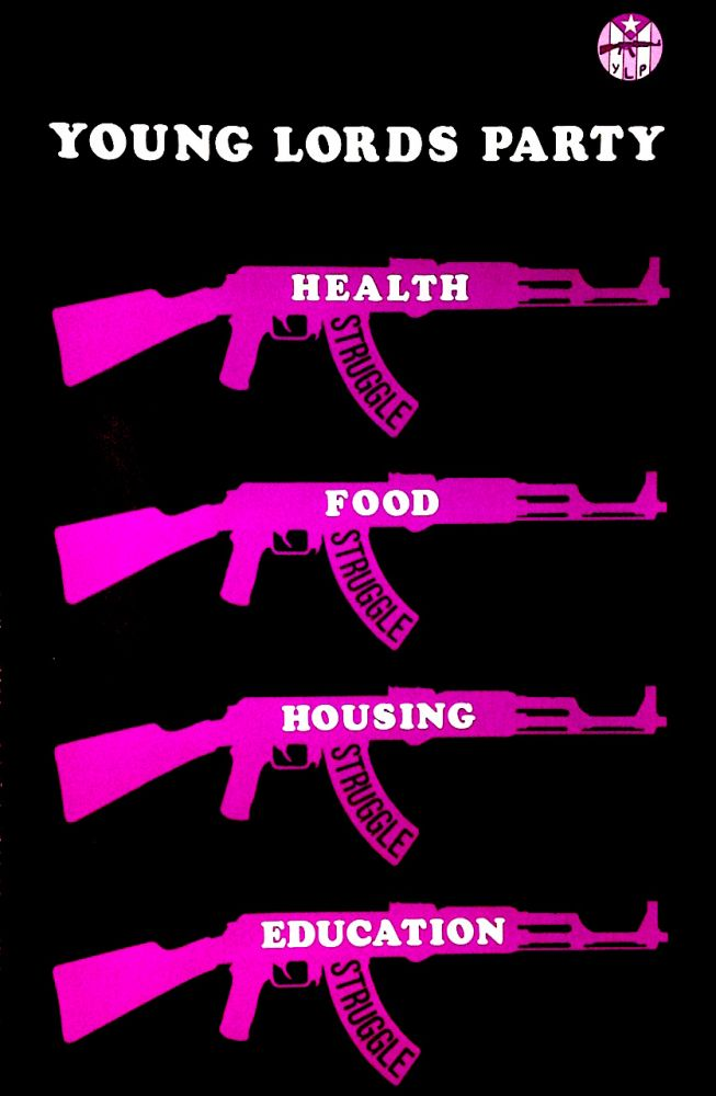 Young Lords Party: Health, Food, Housing, Education [poster]
