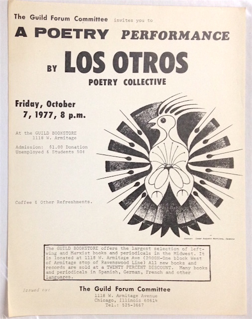 The Guild Forum Committee invites you to a poetry performance by Los Otros poetry collective...