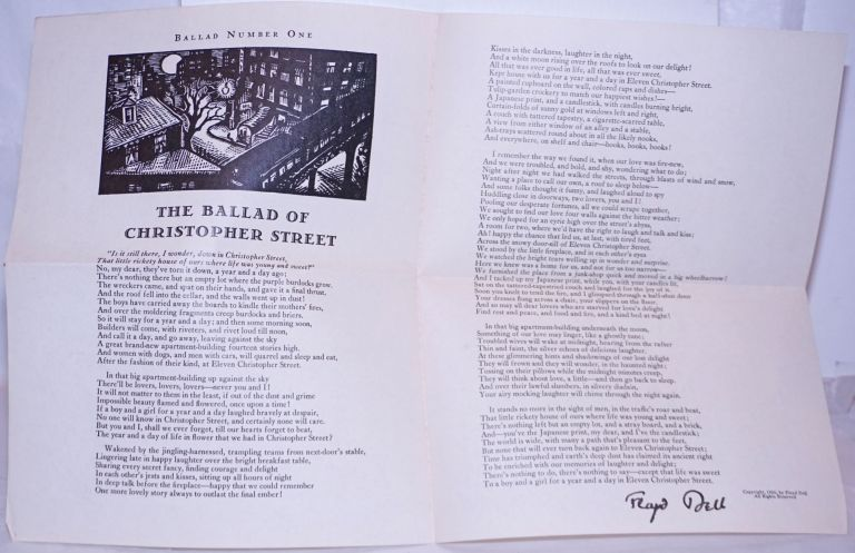 The ballad of Christopher Street. Floyd Dell.